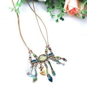 Chico's Unique Colorful Dangle Pendant Necklace